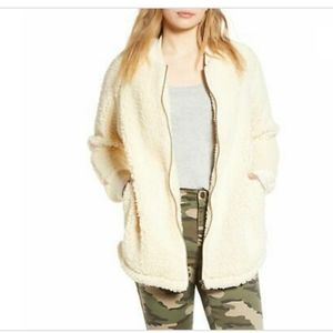 Caslon Long Faux Shearling Jacket New With Tags